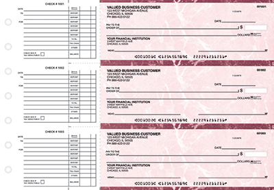 Burgundy Marble Accounts Payable Business Checks