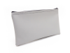 "Grey Zipper Bank Bag, 5.5"" X 10.5"" 