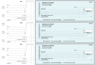 Teal Safety Itemized Counter Signature Business Checks | BU3-ESF01-ICS