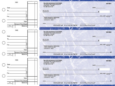Blue Marble Standard Business Checks | BU3-LMA01-STA