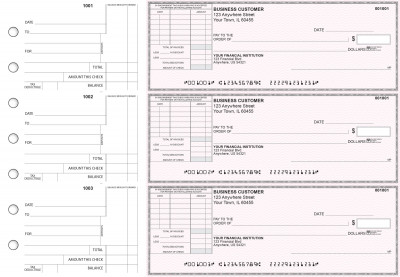 Pink Safety Standard Itemized Invoice Business Checks | BU3-PSF01-SII