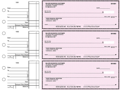 Pink Safety Standard Business Checks | BU3-PSF01-STA