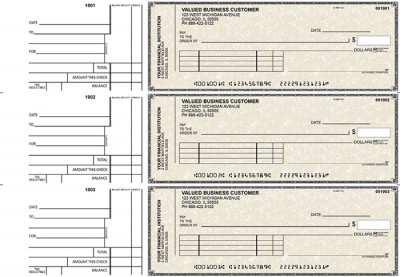 Tan Parchment Standard Invoice Business Checks | BU3-TPM01-SNV