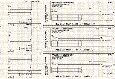 Tan Knit Standard Invoice Business Checks | BU3-TPM02-SNV