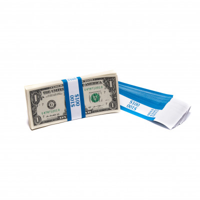 Blue Barred $100 Currency Bands | CBB-003
