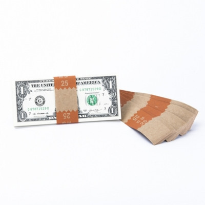 Natural Saw-Tooth $25 Currency Bands | CBKN-001