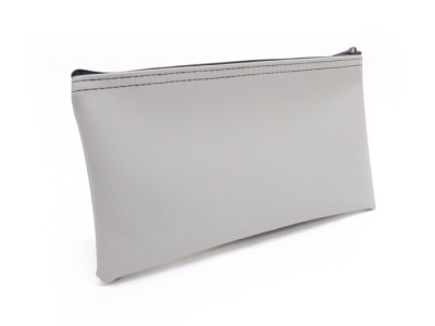 Grey Zipper Bank Bag, 5.5