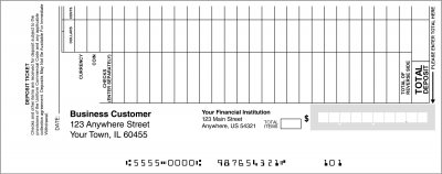 Loose Business Deposit Slips Style 1 | DEP-BDL01