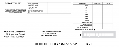 Quick Entry Deposit Slips | DEP-BDL03