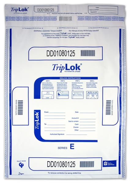 Deposit Bag 15'' X 20'' TripLok, white