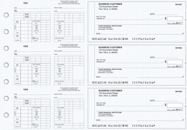 Blue Knit Multi-Purpose Counter Signature Business Checks