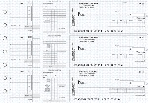 Blue Knit Payroll Invoice Business Checks