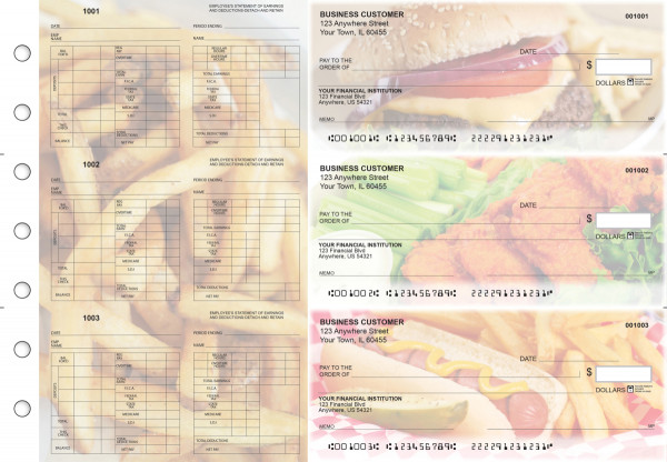 American Cuisine Multi-Purpose Hourly Voucher Business Checks | BU3-7CDS01-MPH