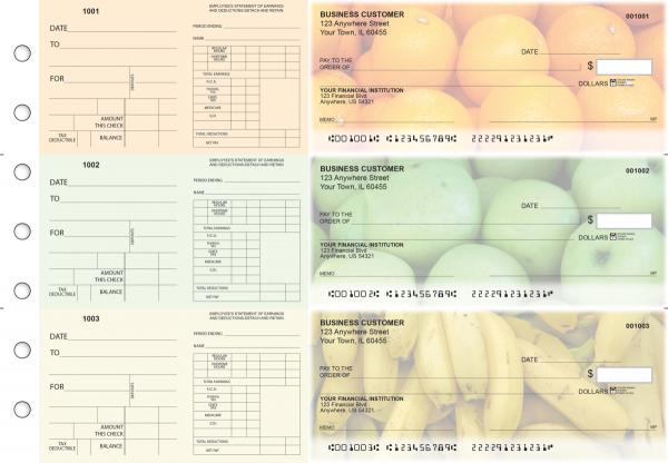 Fruit Dual Purpose Voucher Business Checks