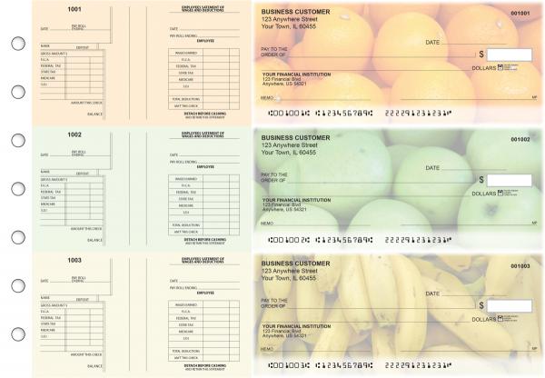 Fruit Multi-Purpose Salary Voucher Business Checks