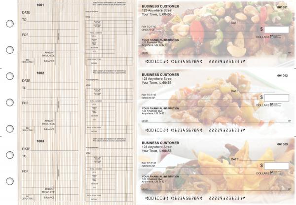 Chinese Cuisine Dual Purpose Voucher Business Checks
