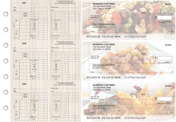 Chinese Cuisine Multi-Purpose Counter Signature Business Checks