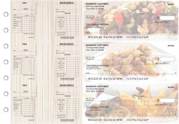 Chinese Cuisine Multi-Purpose Salary Voucher Business Checks
