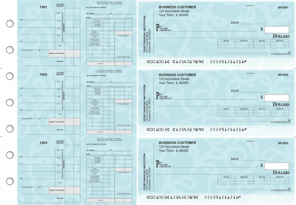 Swirls Payroll Invoice Business Checks | BU3-7CDS24-PIN