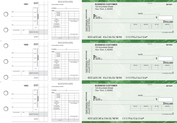 Green Marble Payroll Invoice Business Checks