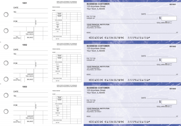 Blue Marble Dual Purpose Voucher Business Checks