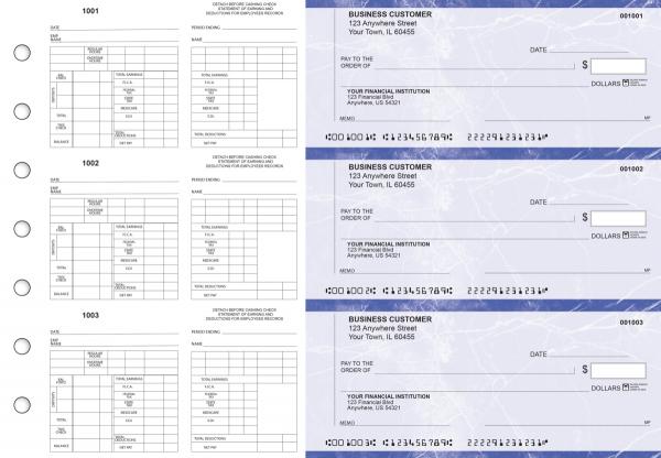 Blue Marble Multi-Purpose Counter Signature Business Checks