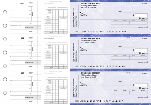 Blue Marble Payroll Invoice Business Checks