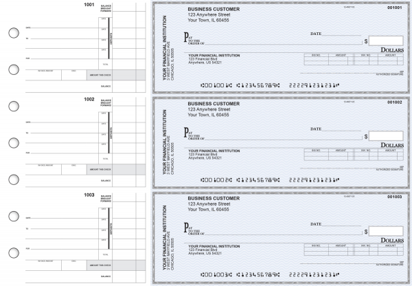 Blue Safety Invoice Business Checks