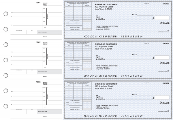 Blue Safety Itemized Invoice Business Checks