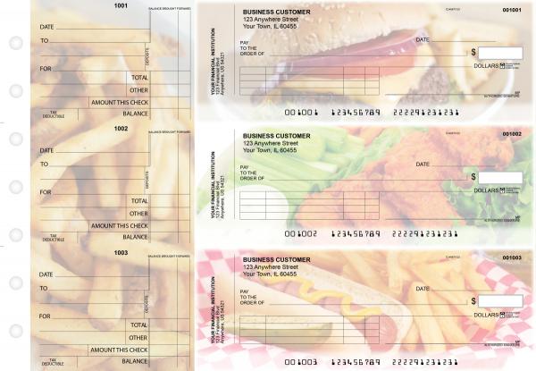 American Cuisine Standard Invoice Business Checks