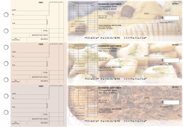 Bakery Standard Itemized Invoice Business Checks