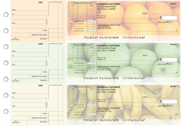 Fruit Standard Itemized Invoice Business Checks