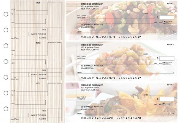 Chinese Cuisine Standard Counter Signature Business Checks