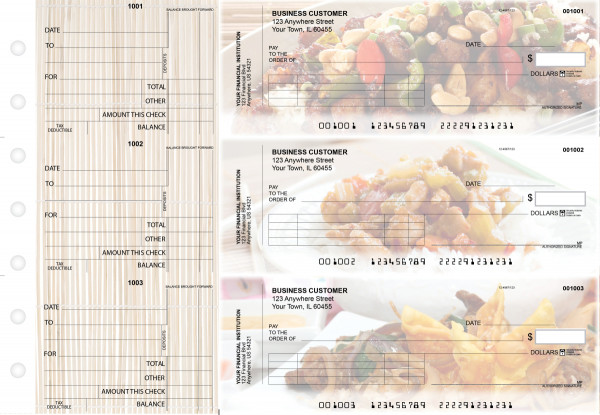 Chinese Cuisine Standard Invoice Business Checks | BU3-CDS04-SNV