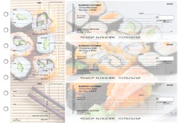 Japanese Cuisine Itemized Counter Signature Business Checks
