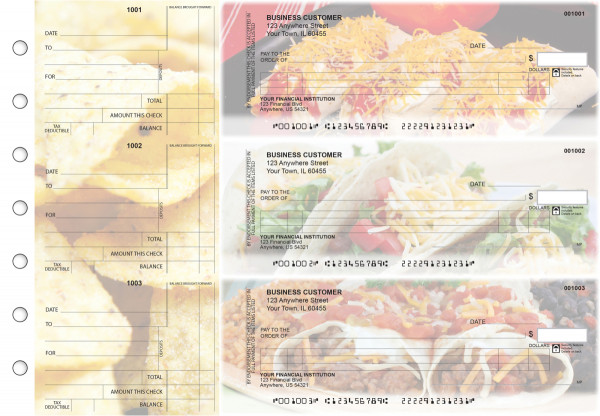 Mexican Cuisine Itemized Counter Signature Business Checks | BU3-CDS07-ICS