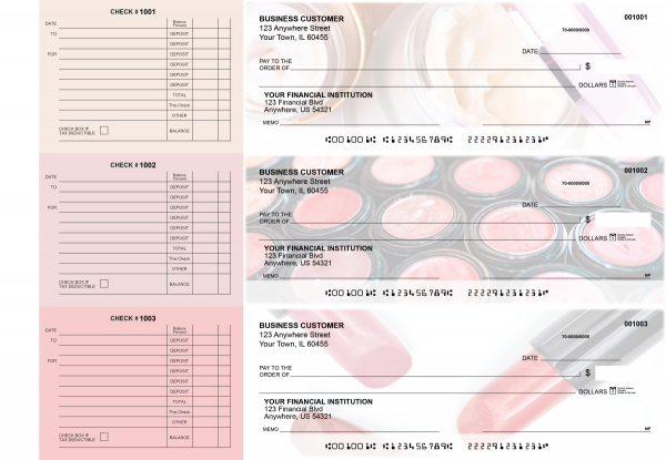 Makeup Accounts Payable Designer Business Checks | BU3-CDS12-DED