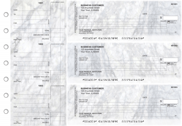 Marble Itemized Counter Signature Business Checks