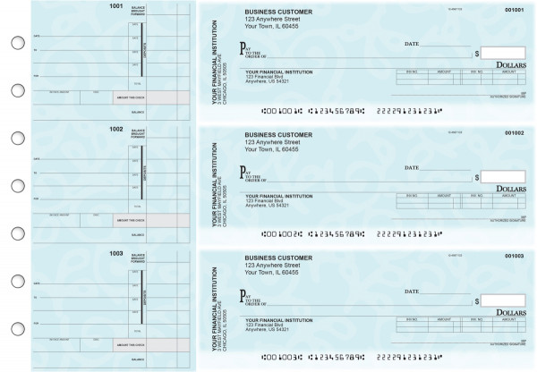 Swirls Invoice Business Checks | BU3-CDS24-INV