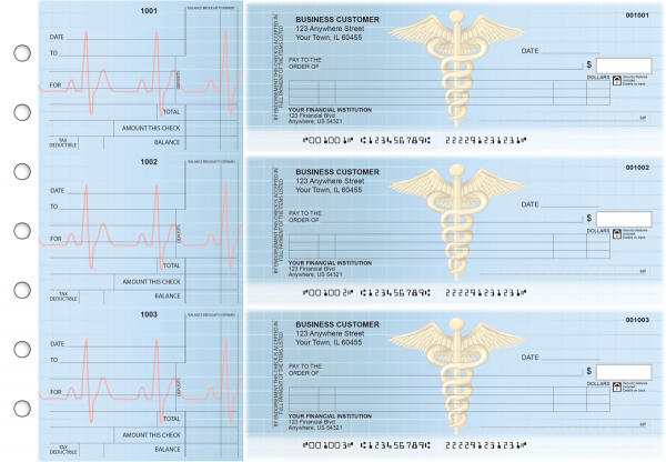 Medical Itemized Counter Signature Business Checks
