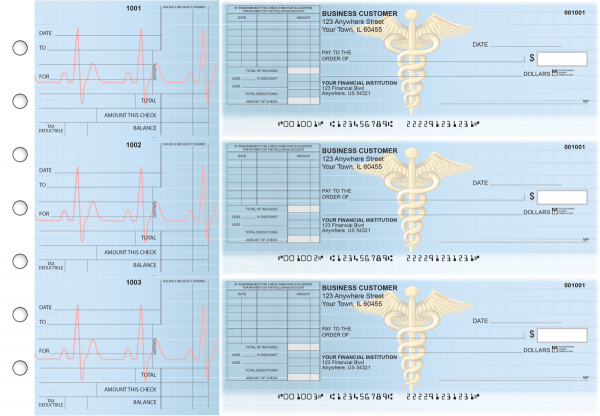Medical Standard Itemized Invoice Business Checks