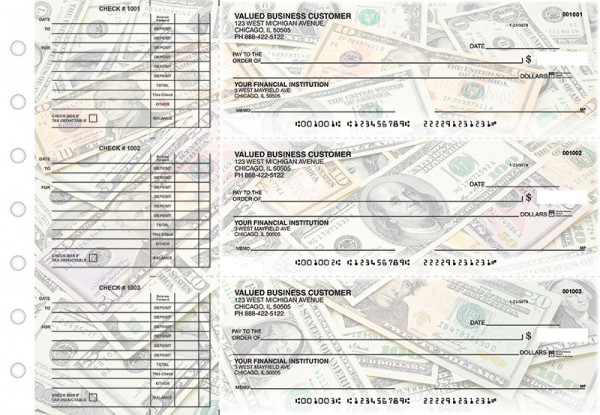 Money Accounts Payable Designer Business Checks | BU3-CDS31-DED