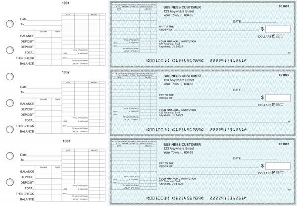 Teal Safety General Itemized Invoice Business Checks