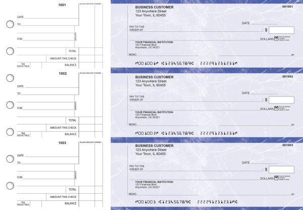 Blue Marble Standard Counter Signature Business Checks