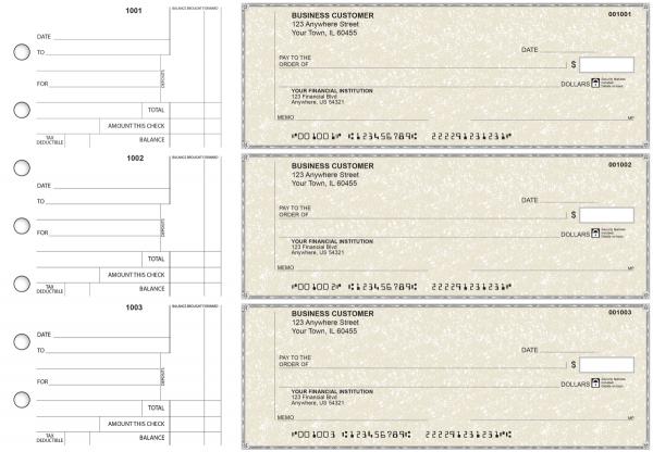 Tan Parchment Standard Counter Signature Business Checks