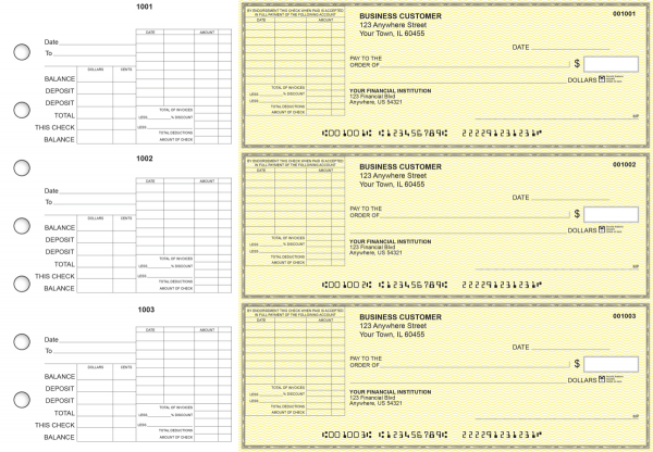 Yellow Safety General Itemized Invoice Business Checks