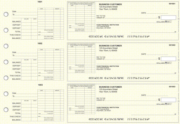 Yellow Knit General Itemized Invoice Business Checks