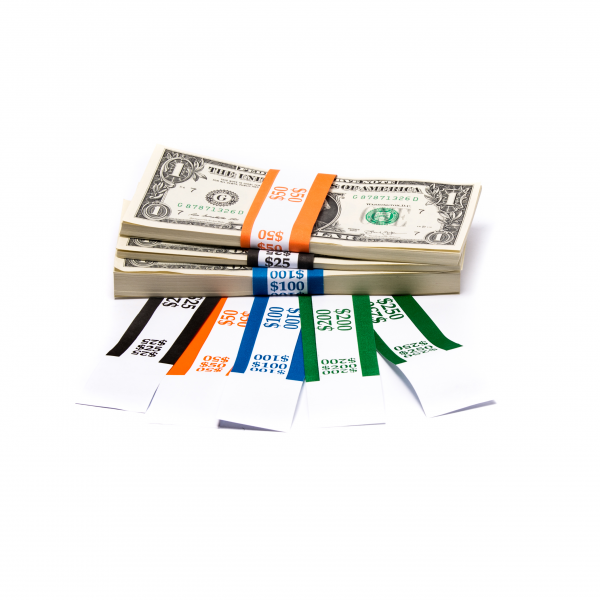 Color-Coded Low Dollar Currency Band Set
