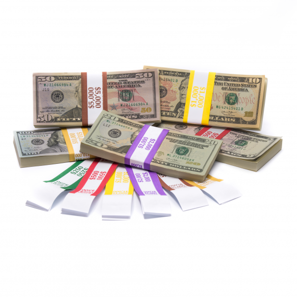 Color-Coded High Dollar Currency Band Set
