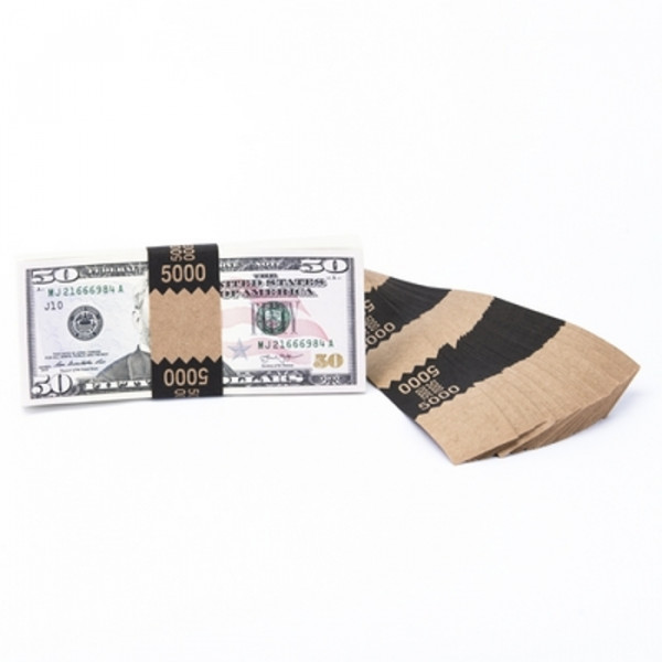 Natural Saw-Tooth $5,000 Currency Bands | CBKN-009